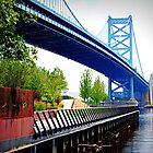 Benjamin Franklin Bridge by DAVID  SWIFT