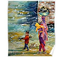 Collecting Firewood - photo Mothers Day by Bobby Dar Poster