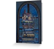 Castle Book Greeting Card