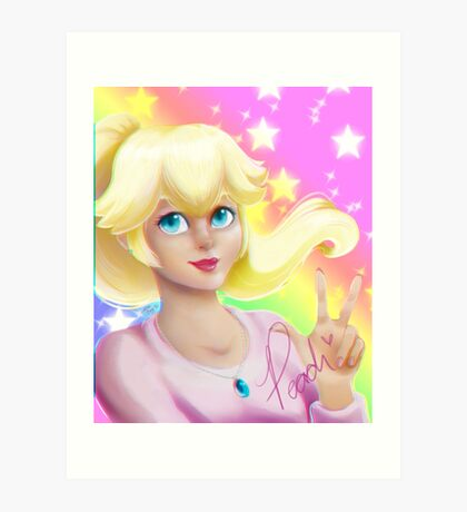 Peach Princess Art Print