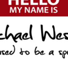"Nametag Parody: Burn Notice - ""My Name Is Michael Westen"" Sticker"