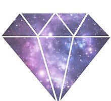 Galaxy printed diamond design by inspoalamode