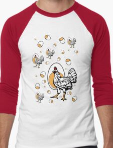 Retro Chickens Men's Baseball ¾ T-Shirt