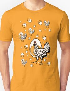 Retro Chickens Unisex T-Shirt