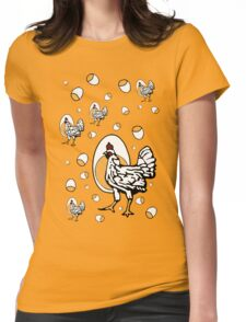 Retro Chickens Womens Fitted T-Shirt