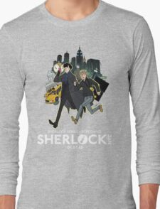 Sherlock NYC -  SCREENING - Day (White Logo)  Long Sleeve T-Shirt