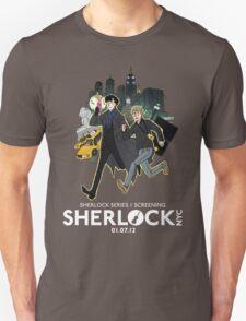 Sherlock NYC -  SCREENING - Day (White Logo)  T-Shirt