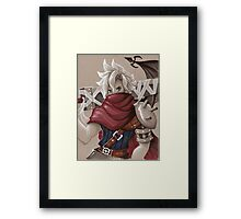 Toned Paper Cloud Strife Framed Print