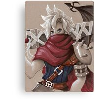 Toned Paper Cloud Strife Canvas Print