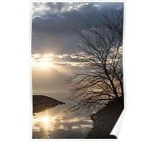 Rise and Shine - Brilliant Lakeside Morning Poster