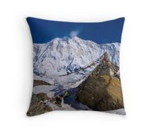 Annapurna Base Camp Throw Pillow