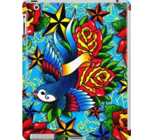 Traditional Swallow & Rose Tattoo iPad Case/Skin