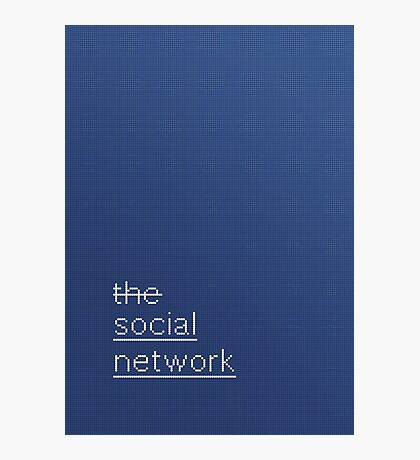 SCRIPT / the social network Photographic Print