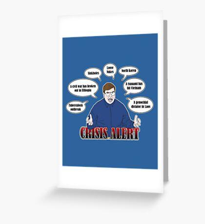 Community -- CRISIS ALERT! Greeting Card