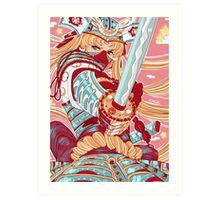 Samurai Moon Art Print