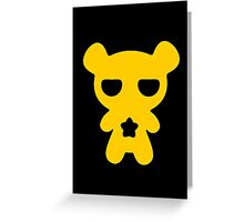 Lazy Bear Yellow Attention Greeting Card