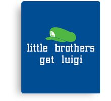 Little Brothers get Luigi Canvas Print