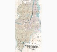 Vintage Map of Jersey City and Hoboken (1886) Unisex T-Shirt