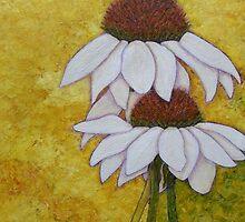 Coneflowers memories by Madalena Lobao-Tello