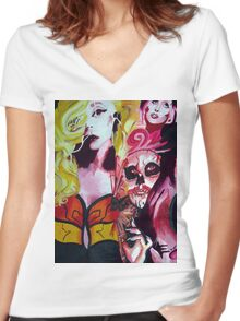Born This Way  Women's Fitted V-Neck T-Shirt