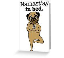 yoga pug Greeting Card