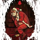 Santa is at the Door Funny Christmas Card by Jeremy Ley