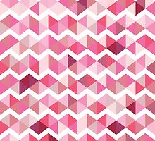 Pink chevron by Samado