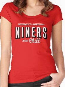 Niners And Chill Women's Fitted Scoop T-Shirt