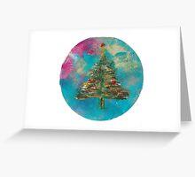 Christmas Tree Snow Globe Greeting Card