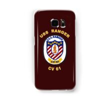 USS Ranger (CV/CVA-61) Crest for Dark Colors Samsung Galaxy Case/Skin