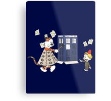 Doctor and Daleks Metal Print
