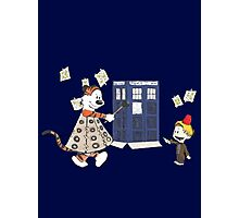 Doctor and Daleks Photographic Print