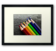 Simply lined up Framed Print