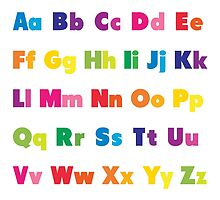 Alphabet BRIGHTS! A, B, C... by candymoondesign