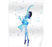 Mercury Watercolor Poster
