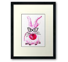 Bubblegum Bunny Framed Print