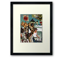 The shores of captivity (lightning on my feet) Framed Print