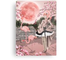 Flamingo Fairy - Pink Moon Metal Print