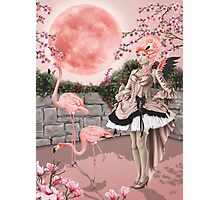 Flamingo Fairy - Pink Moon Photographic Print