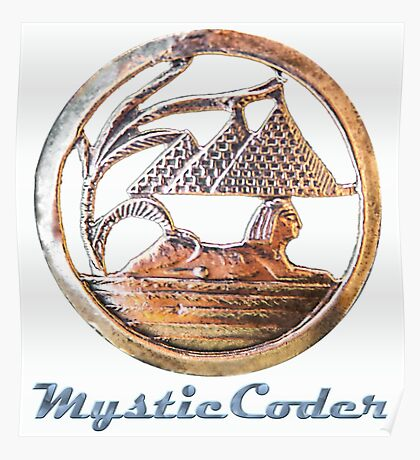 MysticCoder Logo &  Clear Amulet Poster