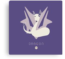 Pokemon Type - Dragon Canvas Print