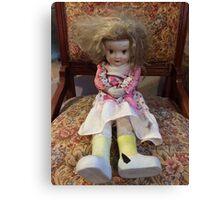 Porcelain Doll ~ Crazy Girl Canvas Print