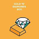 Gold 'n' Diamonds Boy - gold/diamond by theoneshots
