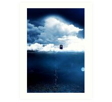 There is a man who lives on a cloud. Art Print