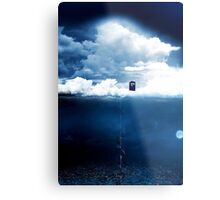 There is a man who lives on a cloud. Metal Print