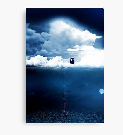There is a man who lives on a cloud. Canvas Print