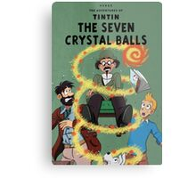 Tintin and the Seven Crystal Balls fan cover Metal Print