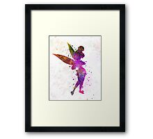 Tinkerbell in watercolor Framed Print