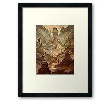 Earth Cult Temple Framed Print
