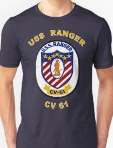 USS Ranger (CV/CVA-61) Crest for Dark Colors T-Shirt
